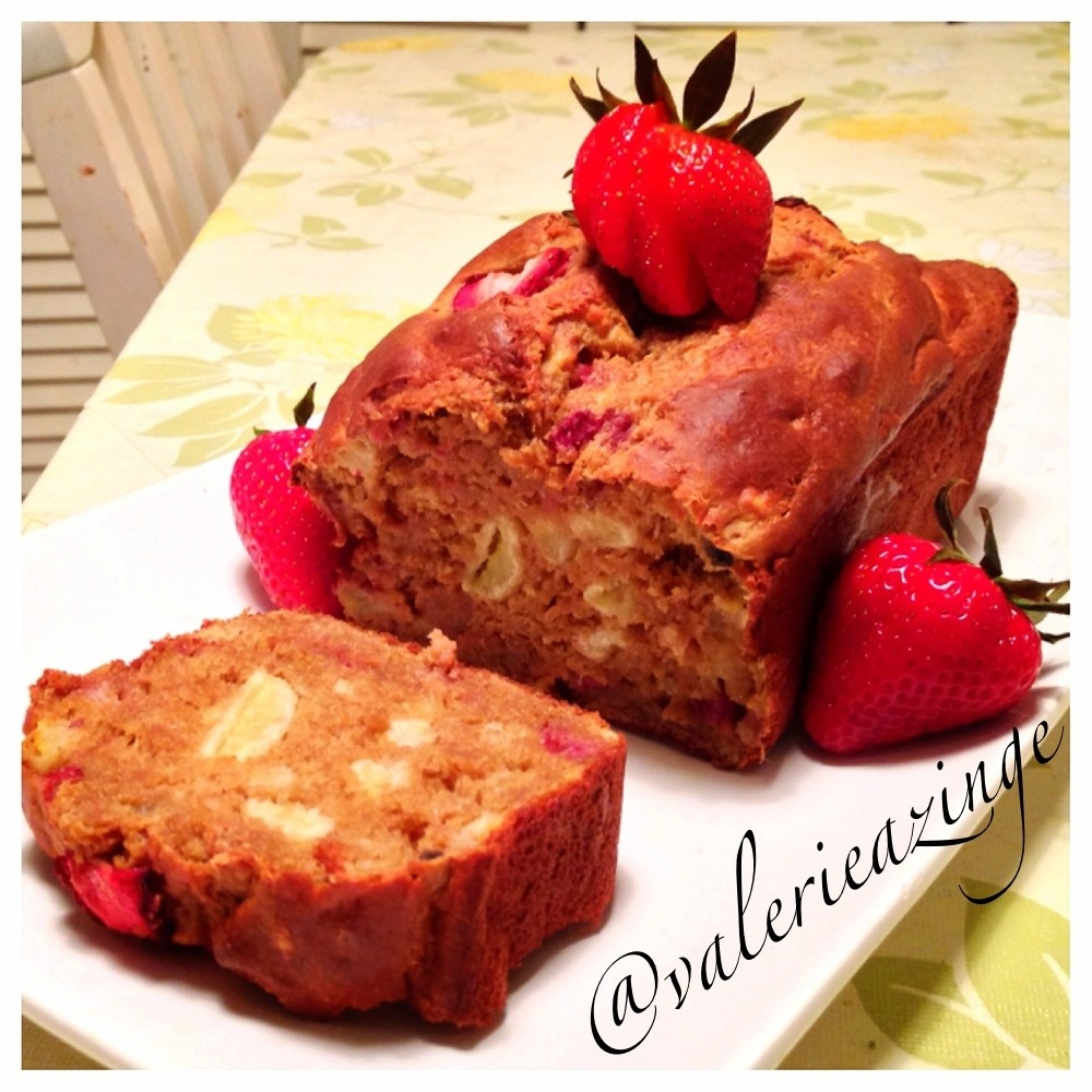 STRAWBERRY GREEK YOGURT BANANA BREAD | My digital kitchen 😋