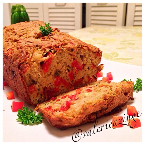Zucchini Bread With Roasted Red Peppers And Feta Recipe ...