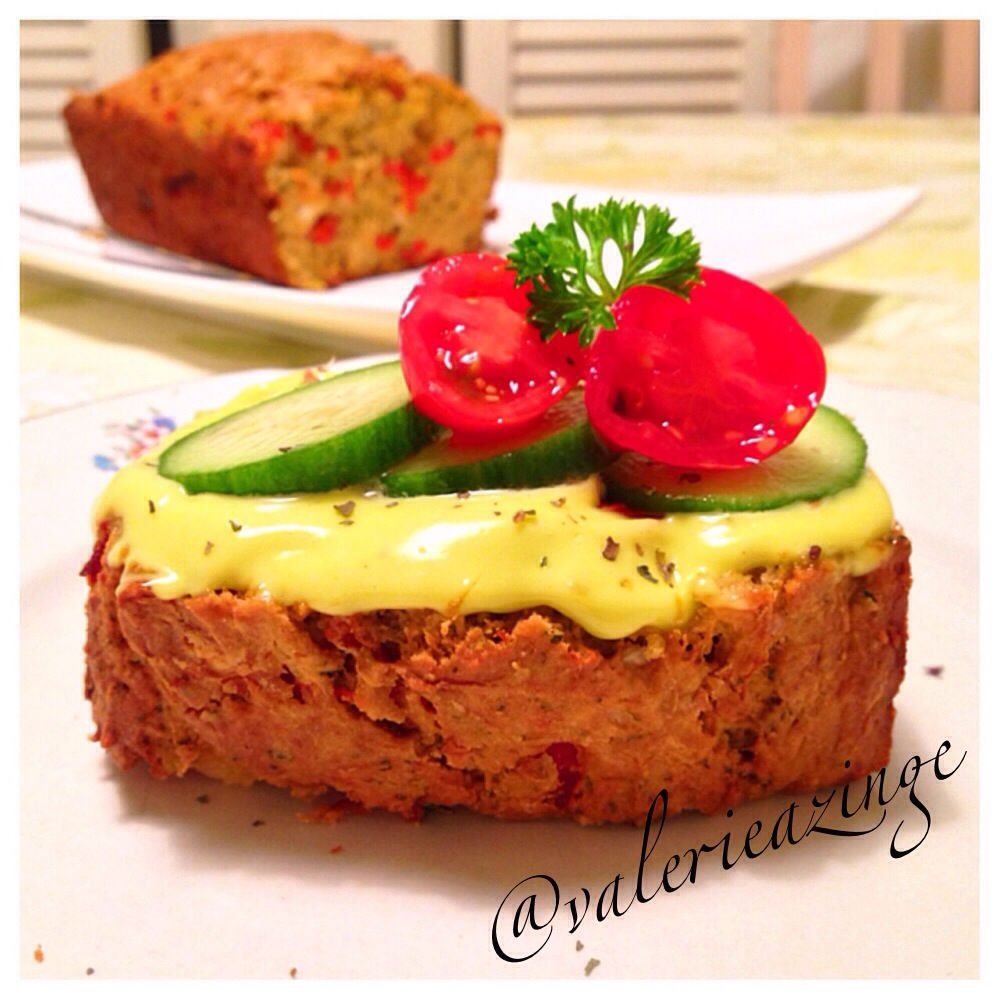 SAVOURY ZUCCHINI BREAD WITH ROASTED BELL PEPPERS AND LIGHT ...